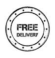 Free delivery badge vintage vector image