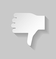 Thumbs down sign vector image vector image