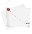 Empty stationery papers vector image