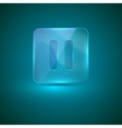 glass icon with pause sign vector image