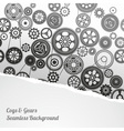 gearwheel mechanism background vector image