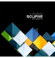 Glossy color squares on black Geometric abstract vector image