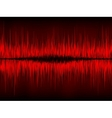 Abstract waveform background vector image vector image