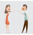 divorce family conflict couple man and woman vector image