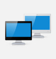 black and white monitor isolated on white vector image