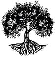 Decor silhouette tree vector image