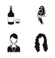 Hairdresser production nature and other web icon vector image