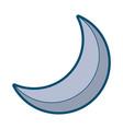 half moon night celestial natural image vector image