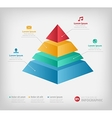 Pyramid cone info chart graphic for business vector image