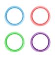Abstract circles frame vector image