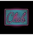 Light neon club label vector image