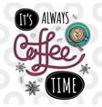 coffee trendy vector image