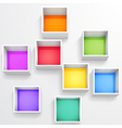 3d isolated empty colorful bookshelf vector image vector image