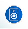 icon audio speaker sound wave symbol vector image