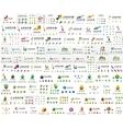Company logo mega collection Various universal vector image