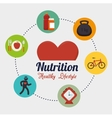 Wellness healthy lifestyle icons vector image
