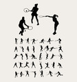 Tennis Sport Silhouettes vector image
