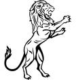Lion Trabal Tattoo vector image