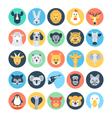 Animal Avatars Flat Icons 1 vector image