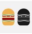 burger icon in black and color variants vector image