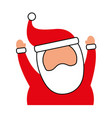 christmas happy santa claus arms up cheerful vector image