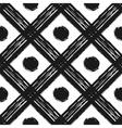 Grunge seamless pattern of black white diagonal vector image