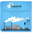 industrial background and infographic elements vector image