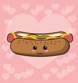 kawaii hot dog image vector image