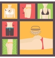Keeping fit weight loss plastic surgery set vector image