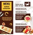 Sea Food Menu vector image