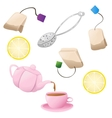 Set of tea icons vector image