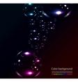 soap bubbles on black background vector image