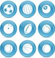 sports balls icon vector image