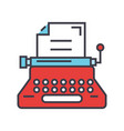typewriter writer writing text copywriting vector image