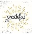 Grateful Retro Poster Design Thanksgiving Card vector image