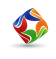 Abstract colorful logo vector image vector image