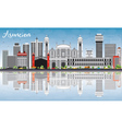Asuncion Skyline with Gray Buildings vector image