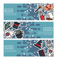 set of horizontal banners about black magic vector image