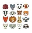 Animal Heads Set vector image vector image