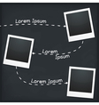 Three Photo Frames vector image