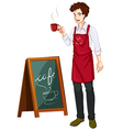 A man working in a cafe vector image