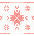 Knitted stars in Norwegian style vector image vector image