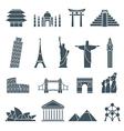 World landmarks icons abstract set vector image vector image