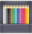 Collection of pencils in the pocket vector image