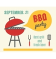 BBQ party Barbeque and grill cooking Flat design vector image