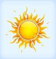 Bright yellow sun vector image