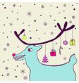 Cheerful holiday card vector image