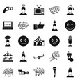 emotion icons set simple style vector image