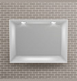 empty niche realistic brick wall clean vector image