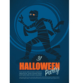 halloween mummy vector image